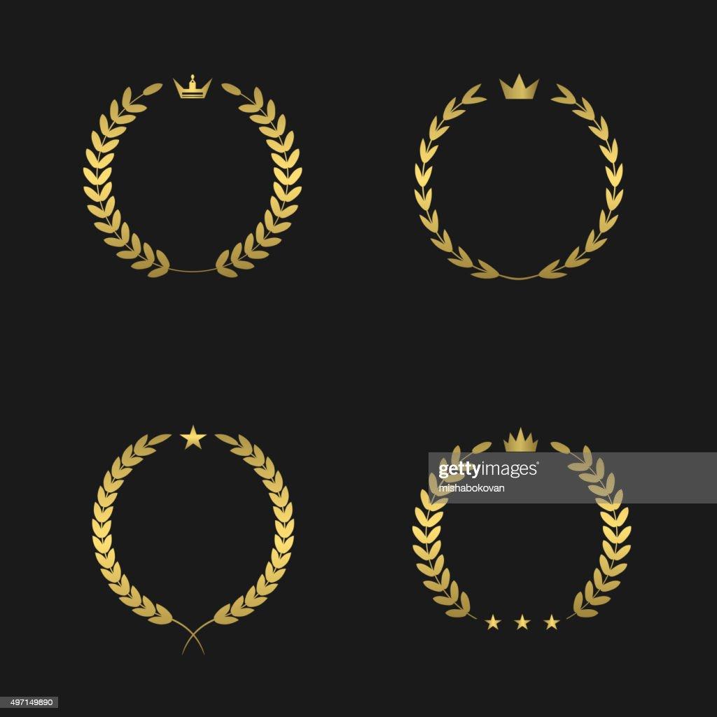Golden wreath set