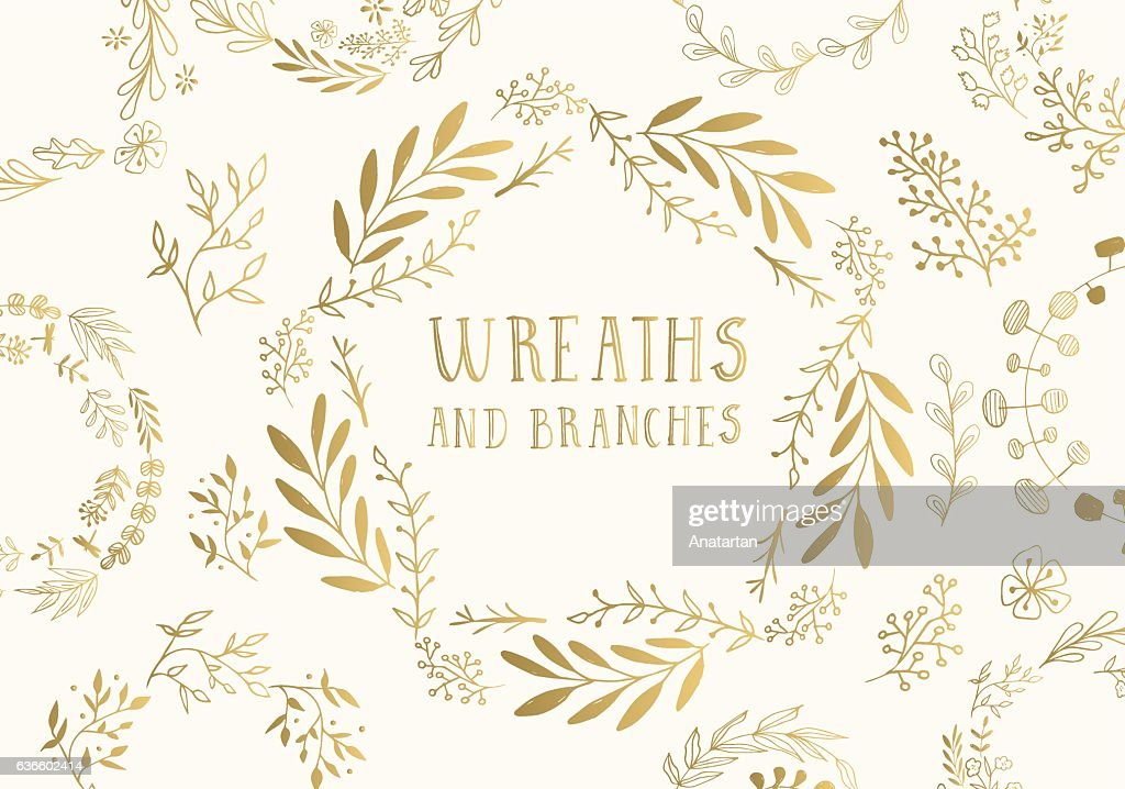 Golden wreaths.
