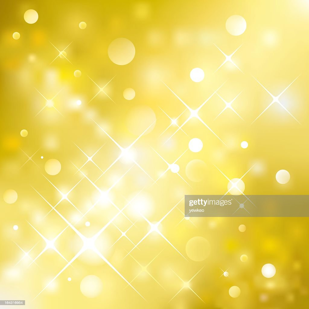 Golden yellow background with white sparkles