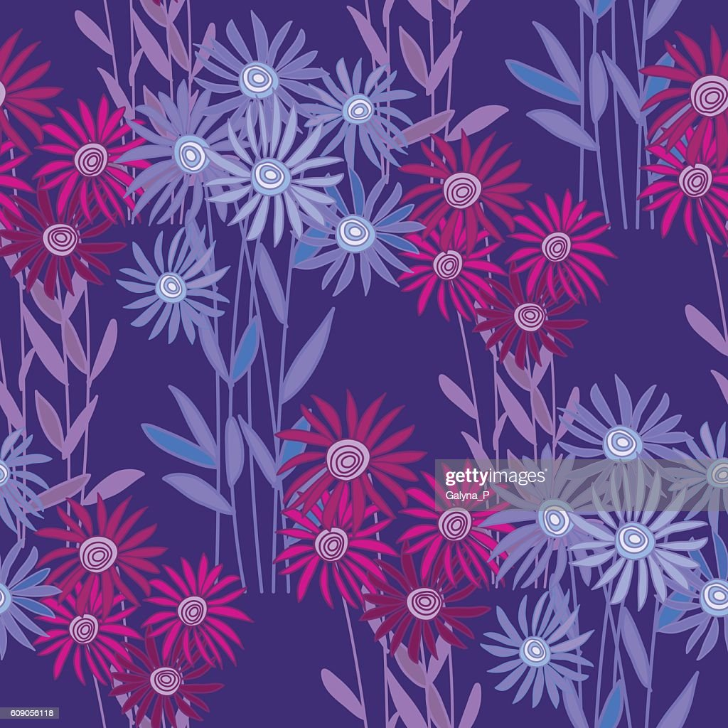 golden-daisy wrapping paper vector illustration.