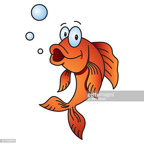 illustrations, cliparts, dessins animés et icônes de goldfish comics - poisson rouge