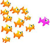 Goldfish woman