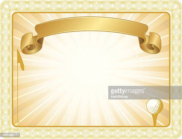 golf award certificate background - teeing off stock illustrations, clip art, cartoons, & icons