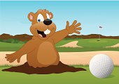 Golf Ball and Gopher