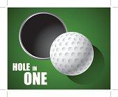 Golf Ball on Edge of Hole vector