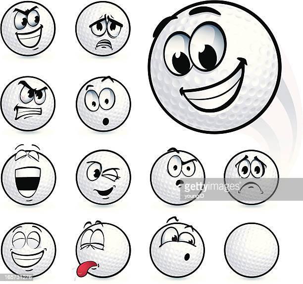 ゴルフボール smileys - ゴルフボール点のイラスト素材/クリップアート素材/マンガ素材/アイコン素材