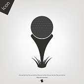 Golf ball vector icon
