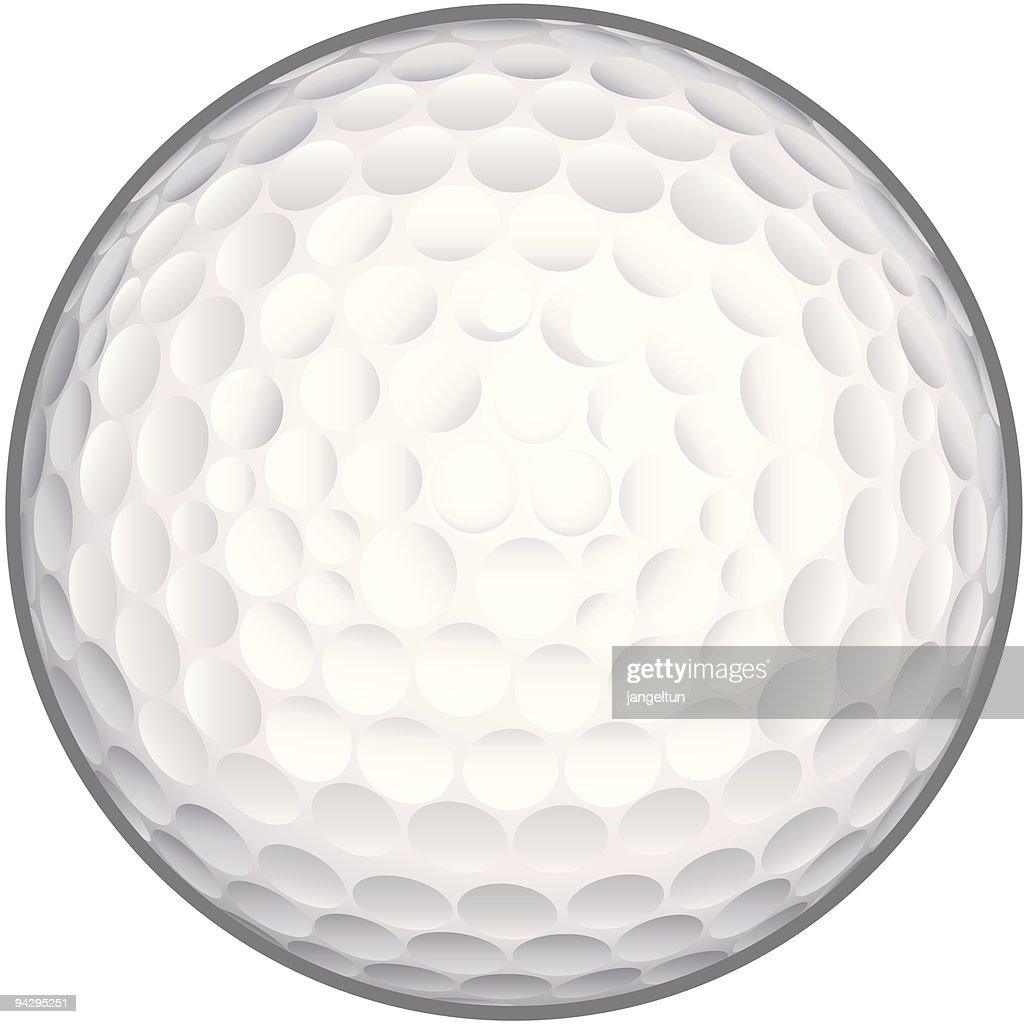 Golf ball (vector) : stock illustration