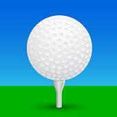 Golf ball – vector
