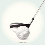 Golf ball with club
