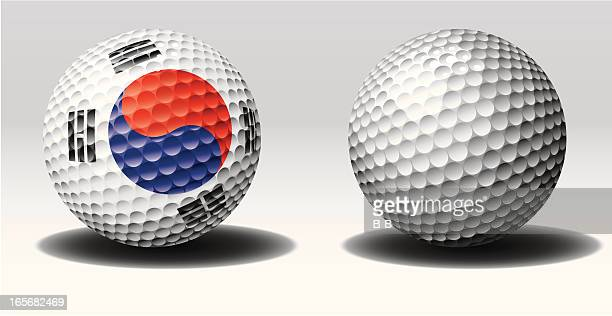 golf ball-south korea - traditional sport stock illustrations, clip art, cartoons, & icons
