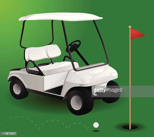 One Person Golf Cart >> Golf Cart Stock Illustrations and Cartoons | Getty Images