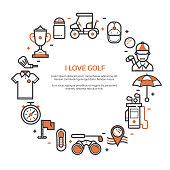 Golf Club Card or Invitation Template