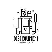Golf Club Equipment Icon