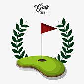golf club red flag field label