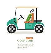 Golf Club Symbol Banner. Vector