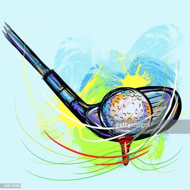 ilustrações de stock, clip art, desenhos animados e ícones de taco de golfe - golf tournament