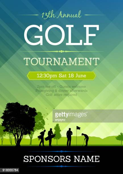 golf competition poster - golf stock illustrations