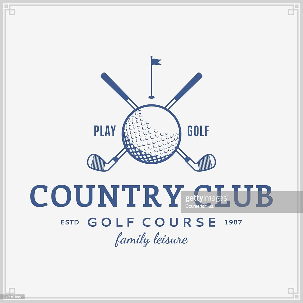 Golf country club label template