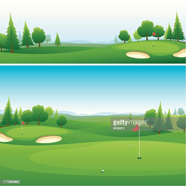 Golf course background designs