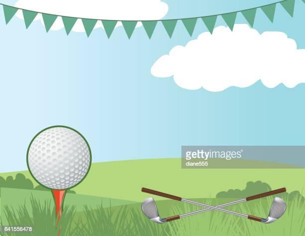 ゴルフコースの背景