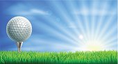 Golf course ball and tee