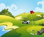 Golf course beautiful landscape
