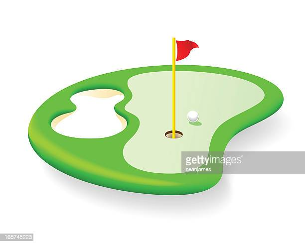 golf course icon isolated on white background - sand trap stock illustrations, clip art, cartoons, & icons