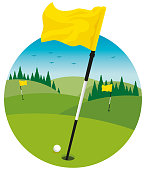 Golf Course Landscape Clip Art