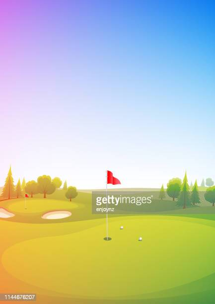 golf course poster - invitational stock illustrations