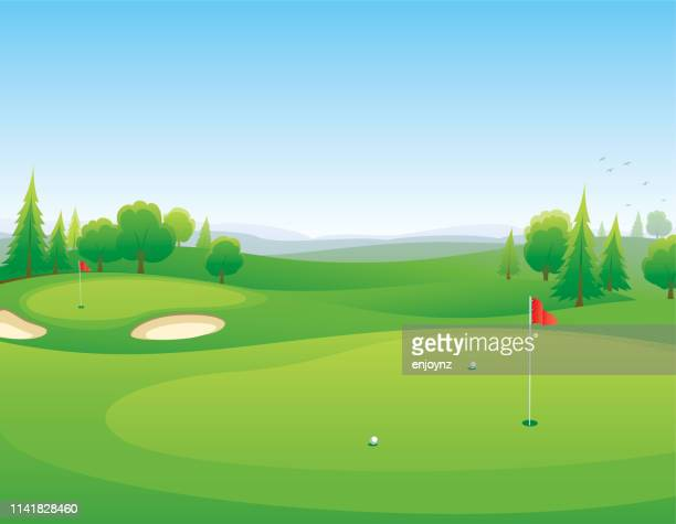 golf course - golf tournament stock illustrations, clip art, cartoons, & icons