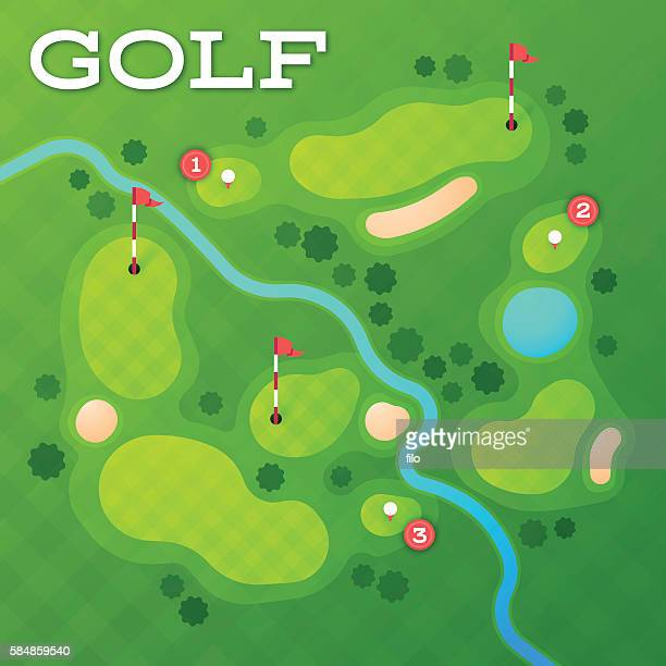 golf course - golf course stock illustrations