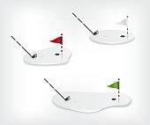 Golf course white illustration