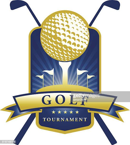 ゴルフエンブレム - ゴールを狙う点のイラスト素材/クリップアート素材/マンガ素材/アイコン素材