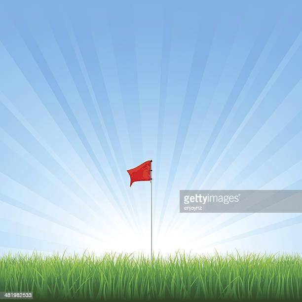 golf flag - golf flag stock illustrations