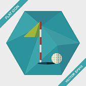 golf flat icon with long shadow,eps10
