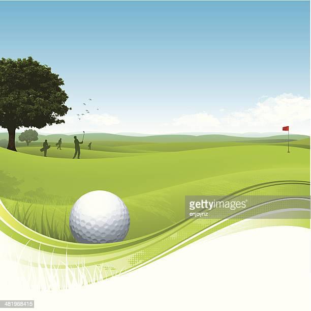 golf flow background - golf tournament stock illustrations, clip art, cartoons, & icons