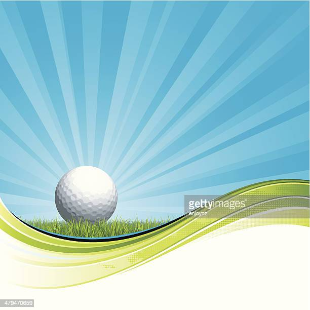 golf flow design - green golf course stock illustrations, clip art, cartoons, & icons