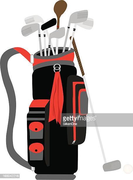 golf gear - drive ball sports stock illustrations, clip art, cartoons, & icons