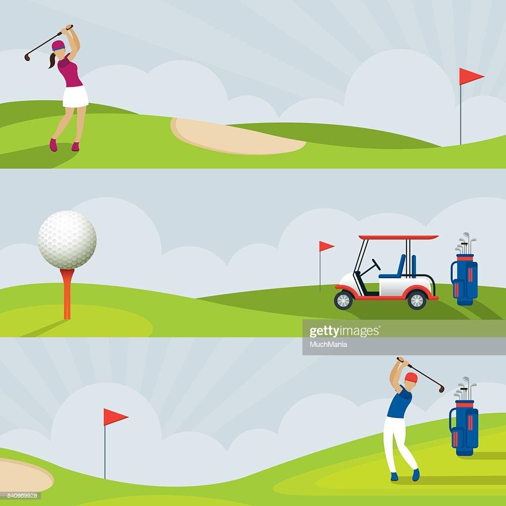 Golf, Golf Course Banner