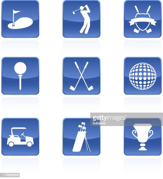golf golfing royalty free vector arts buttons