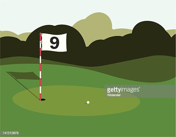 golf green - putting stock illustrations