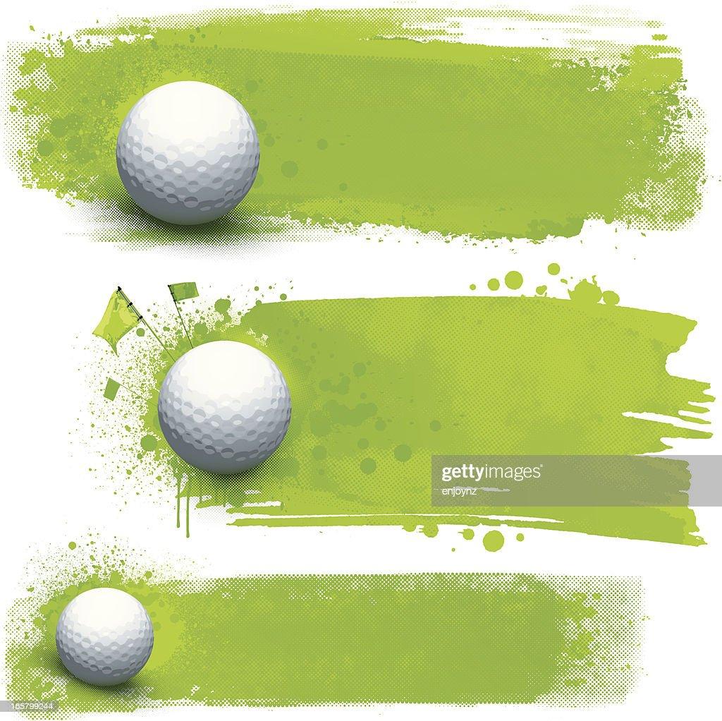 Golf grunge banners