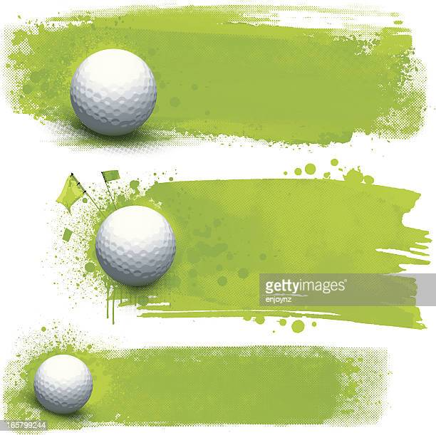 golf grunge banners - golf stock illustrations