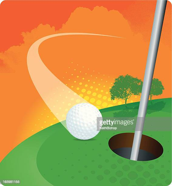 golf - hole in one - ace stock illustrations, clip art, cartoons, & icons