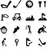 Golf icons set - Elegant series