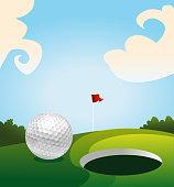 Golf land green