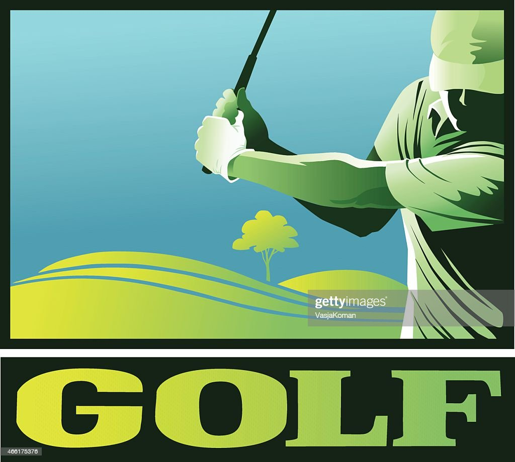 Golf Player Close Up With Copy Space
