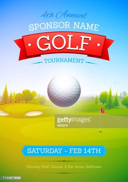 golf poster - golf tournament stock illustrations, clip art, cartoons, & icons