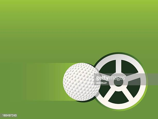 stockillustraties, clipart, cartoons en iconen met golf putt - putten